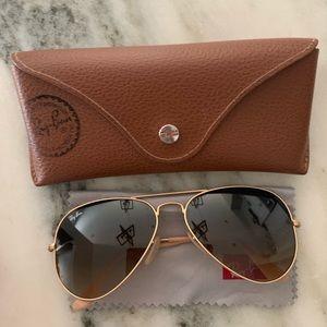 Women's Ray-Ban Gold Aviator Sunglasses